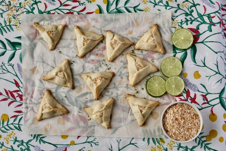 Lime and Coconut Hamantaschen