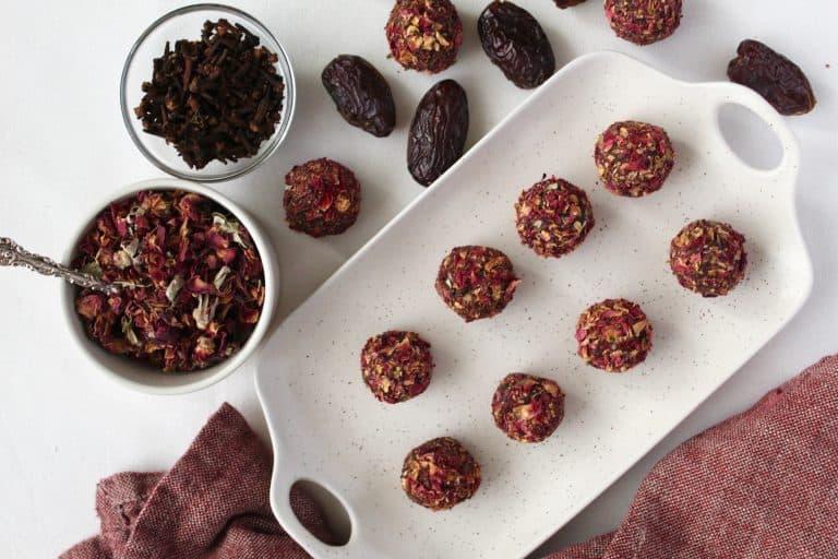 Cinnamon, Almond, & Rose Charoset Truffles