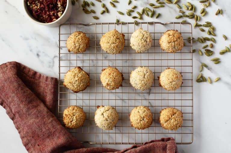 Rose Water and Cardamom Coconut Macaroons
